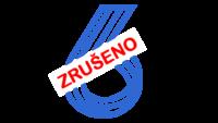 Logo šestka a text zrušeno